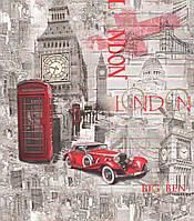 Шпалери дуплекс на флізеліновій основі Лондон 21 сіро-червоний, фото 1