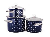 Набор посуды Epos Кобальтовая саксония 6 предметов емаль ( №1500 Кобальтовая саксон)