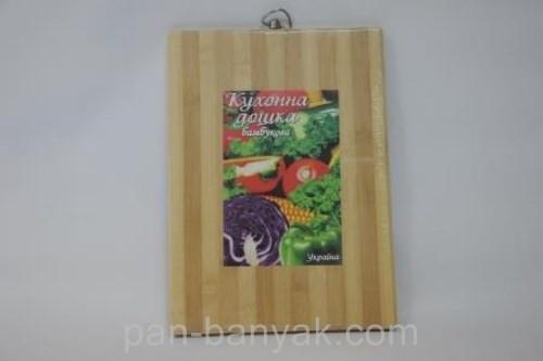 Доска кухонная Дошка бамбукова  дерево полоса 30х20 см бамбук (20*30д)