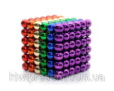 Неокуб (NeoCube) в боксе 216 шариков 5 мм цветной (радуга 6 цветов), фото 2