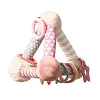 Подвеска для коляски, кроватки,развивающая игрушка  PYRAMID  PINK  тм Babyono