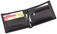 Оригинальный мужской кошелек с прищепкой  из натуральной кожи на магнитах ST