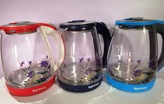 Электрический стеклянный чайник с подсветкой