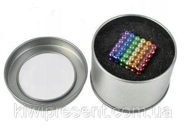 Неокуб (NeoCube) в боксе 216 шариков 5 мм цветной (радуга 6 цветов)