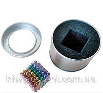Неокуб (NeoCube) в боксе 216 шариков 5 мм цветной (радуга 6 цветов), фото 3