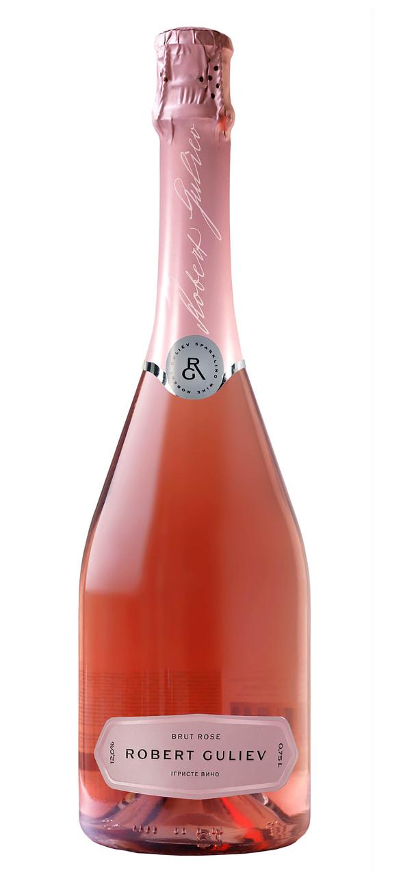 Вино ігристе «Роберт Гулієв» брют рожеве