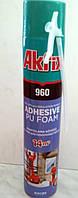 Профессиональный клей для пенополистирола 960 Akfix 900 мл