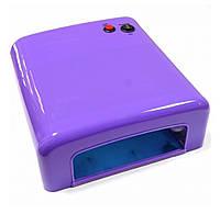UV лампа для геля, гель лака, шеллака 36 Вт № 818 (фиолетовая)