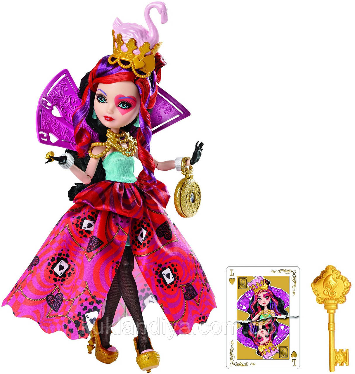 Кукла Ever After High Way Too Wonderland Lizzie Hearts Лиззи Хатс