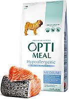 Optimeal Dog Adult Medium Hypoallergenic гипоаллергенный для взрослых собак средних пород Лосось (12 кг)