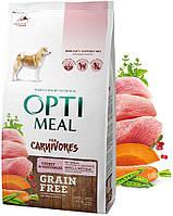 Optimeal (Оптимил) Grain Free беззерновой для взрослых собак всех пород Индейка и овощи (10 кг)