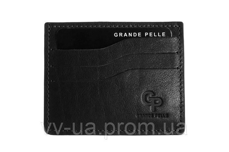 Картхолдер Grande Pelle, двухсторонний, черный (305610), кожа