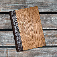 Блокноты с деревянной обложкой. Недатированный. 2020. (А00330)