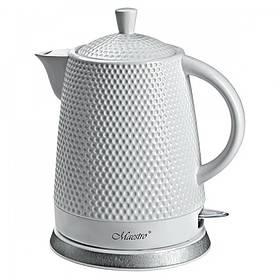 Чайник электрический 1,5 л.  Керамический белый Maestro MR-069
