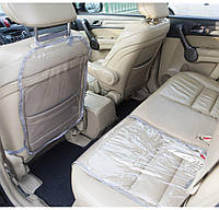 Защита на спинку сиденья и сидушку в машину Organize серая - 222114 (SKU777)