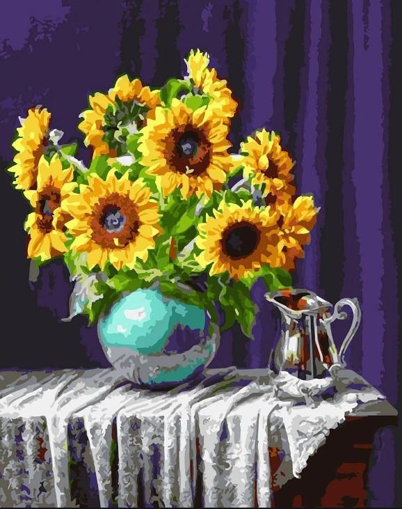 Картина по номерам Подсолнухи в вазе Brushme GX5846