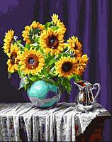Картина по номерам Подсолнухи в вазе Brushme GX5846, фото 1