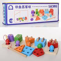 Деревянная игрушка Геометрика MD 2177, 2в1, рыбалка (магнитная)