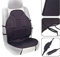 Накидка на сиденье авто с подогревом от прикуривателя, черный цвет