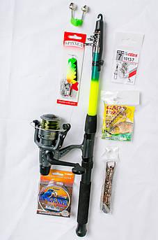Рыболовный набор 8 в1 Спиннинг + катушка Кобра +Подарок!Подарочная упаковка!