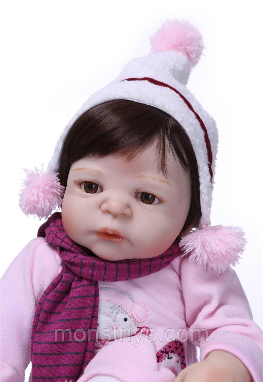 Лялька реборн дівчинка, повністю з вініл-силікону/ Лялька,пупс reborn