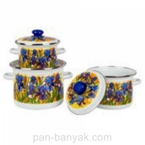 Набор посуды Epos Ирис 6 предметов емаль (№5 Ирис)