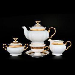 Чайный сервиз Thun Marie-Louise (Золота стрічка) на 6 персон 17 предметов 230мл фарфор (8800300)