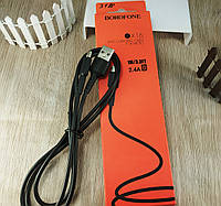 """Кабель  micro-usb для быстрой зарядки """"Borofone BX16"""" 2,4A - черный"""