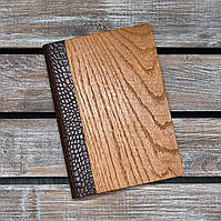 Блокноты с деревянной обложкой. Недатированный. 2020. (А00331)