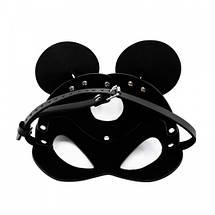 Маска мышки с круглыми ушами микимаус Mouse Minnie Ear BDSM фетиш карнавальная для вечеринок, фото 2