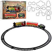 Железная дорога 241  локомотив23см, вагоны 3шт, звук, свет, дым, 38дет, на бат-ке, в кор-ке, 38-27.5-8см