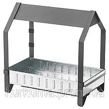 IKEA KRYDDA Стеллаж для рассады, черный, оцинкованный, 44x25 см (003.221.14)