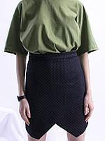 Черная юбка с запахом H&M, размер S, арт. 0560-1055