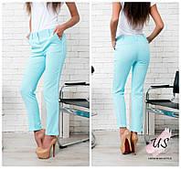 Льняные женские укороченные брюки. 6 цветов!
