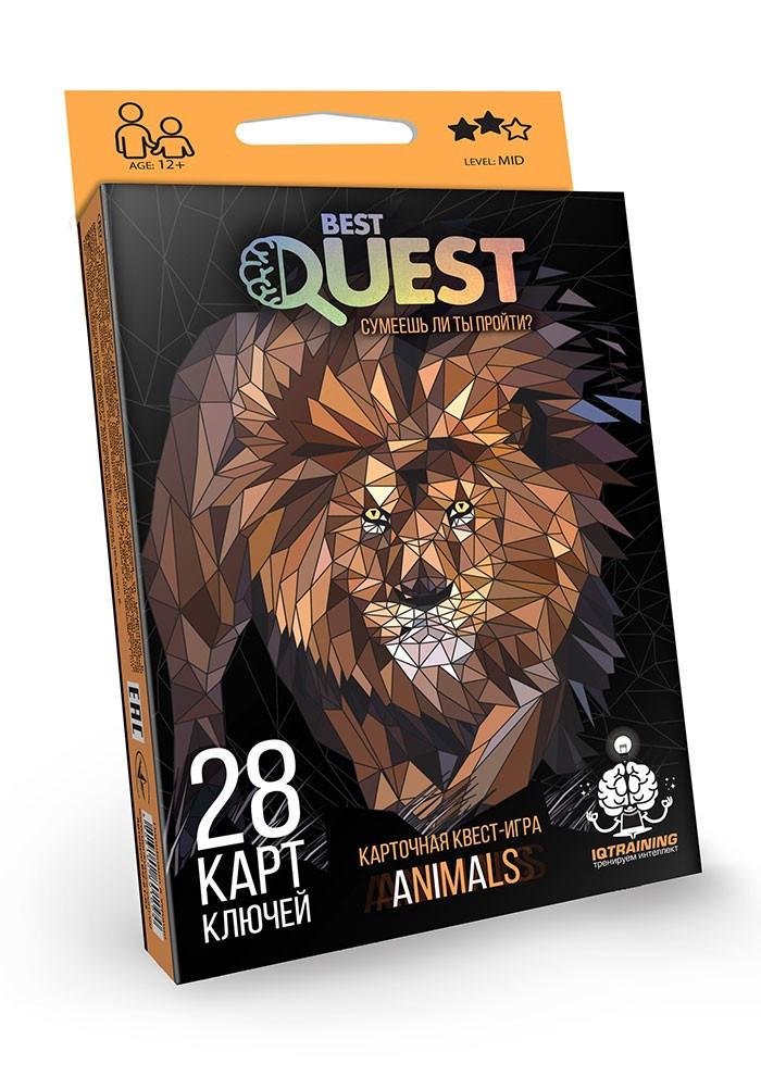 Карточная квест-игра Danko Toys Best Quest. Animals (BQ-01-02)