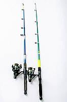 Рыболовный набор 8 в 1 Спиннинг + катушка Кобра +Подарок!Подарочная упаковка!