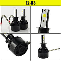 Автомобильные светодиодные LED лампы C6S H3 3200 lm 30W 6000K