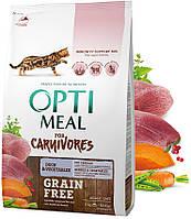 Optimeal (Оптимил) Cat Adult Grain Free Duck & Vegetables беззерновой корм для взрослых кошек (4 кг)