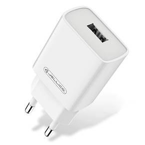 Сетевое зарядное устройство Jellico AQC33 (1USBx3A) QC3.0 White (RL055217) + кабель Lightning, фото 2