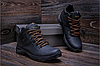 Кожаные ботинки мужские зимние Infinity black реплика