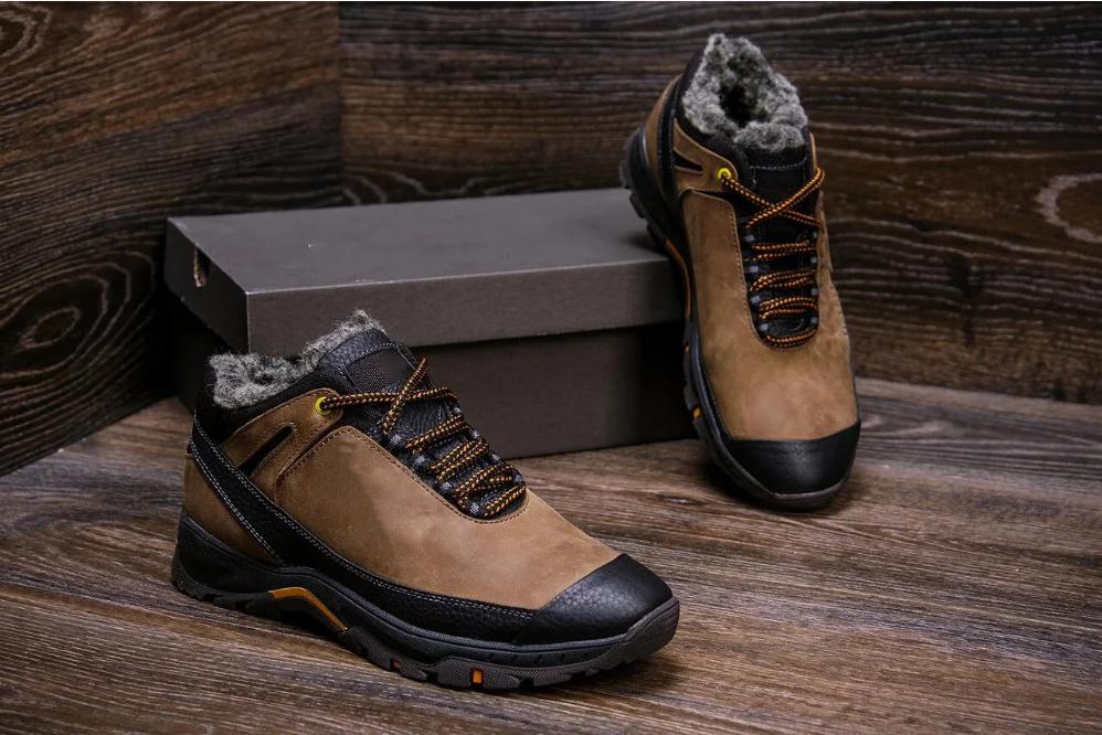 Мужские зимние кожаные ботинки Natural Motion Winter копия
