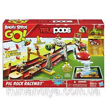 Angry Birds Трек Гонка у Свинской Скалы Go Telepods Pig Rock