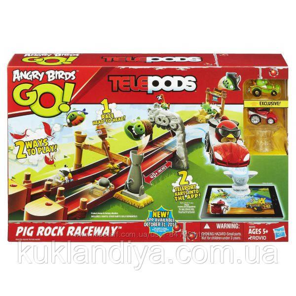 Angry Birds Трек Гонка у Свинской Скалы Go Telepods Pig Rock, фото 1