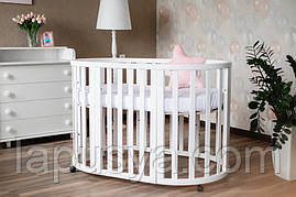 Дитяче ліжечко Angelo Кругле овальне.