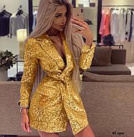 Шикарное эксклюзивное платье пиджак пайетка на подкладке 02 крм, фото 1