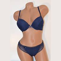 Комплект женского нижнего белья  двойной пуш ап Balaloum 9301 синий