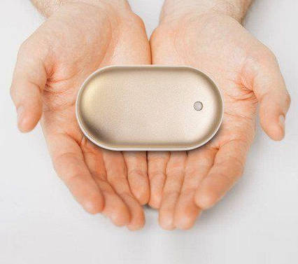 Грелка-повербанк для рук Pebble Hand Warmer PowerBank 5000 mAh золотой