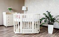 Дитяче ліжечко Angelo Кругле овальне., фото 1