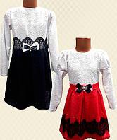Платье для девочки кружево на атласе