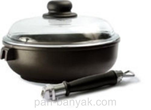 Сковорода с крышкой Биол Титанал сьемная ручка d24 см алюминий с антипригарным покрытием (2406ПС)